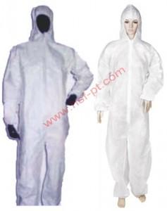 Coverall Putih Size : M, L, XL, XXL, XXXL