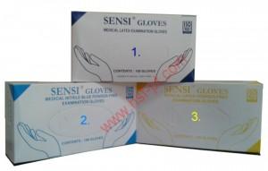 1. Medical Latex  2. Medical Nitrile Blue Powder Free 3. Medical Latex Powder Latex