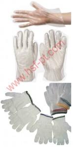 Sarung tangan dari Bahan Plastik dan Sarung Tangan Benang / Sarung Tangan Rajut