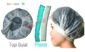 Mobcap / Hairnet Non Woven model Topi Bulat dan Plisket