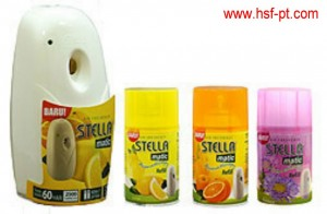 Dispenser Stella Matic Bahan Plastik Stella Matic Refill 225 ml varian Orange, Lemon dan Wild Flower
