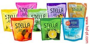 Stella Solid Refill  All in One 70gr, variant Lemon, Bougenville, Orange, Apple, Sensation dan Jeruk(Tropical Orange) Stella Solid Finesse Bathroom 70gr, variant Cool Blue, Fresh Green dan Passion Red