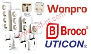 Stop Kontak dan Steker Broco , Stop Kontak dan Steker Uticon, Universal Adaptor Wonpro