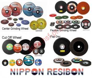 Nippon Resibon terdiri dari Center Grinding Wheel, Flexible, Grinding Wheel, Cut off Wheel dan Flap Disc Wheel