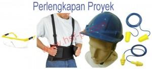 Perlengkapan proyek Ear Plug, Back Support Belt dan Helm Proyek RRC